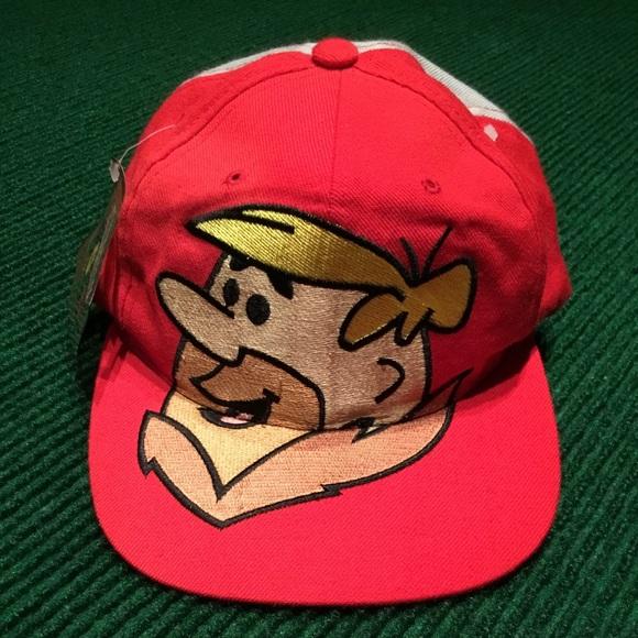 d58975eafef VINTAGE NWT Barney Flintstones snap back hat cap